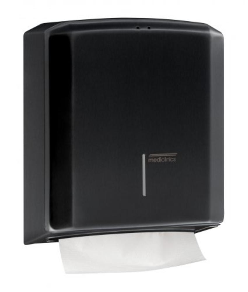 Mediclinics Handdoekdispenser zwart