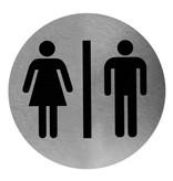 Mediclinics Pictogram man/vrouw RVS  Mediclinics