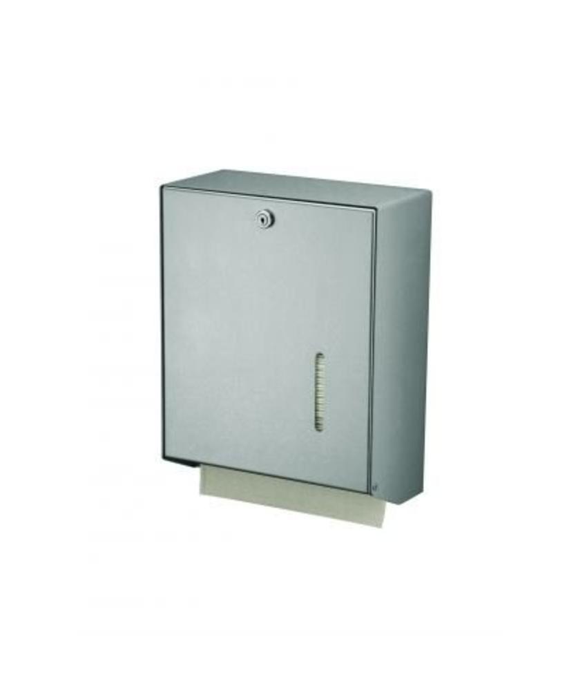 MediQo-line Handdoekdispenser aluminium groot