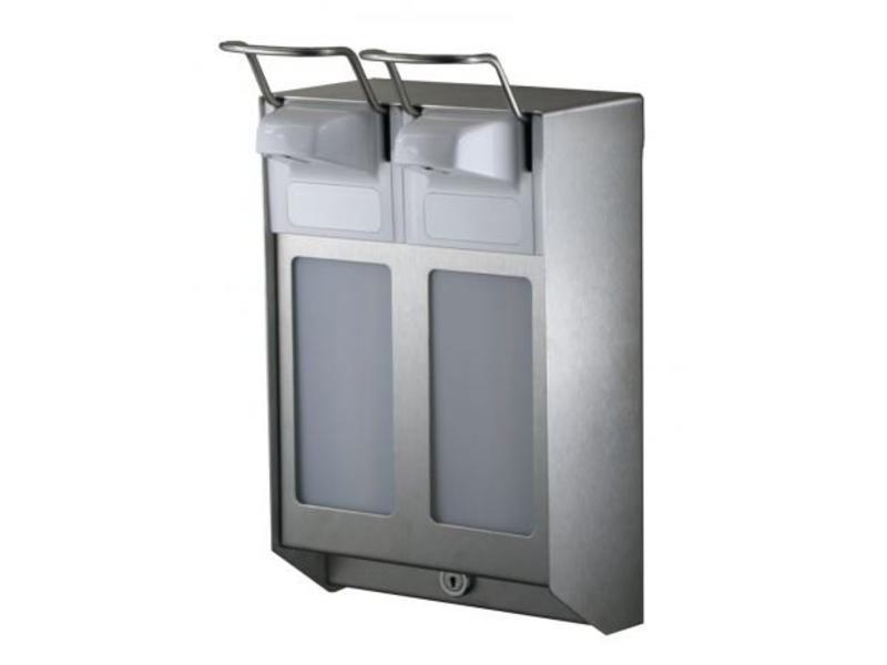 MediQo-line MediQo-line Zeep- & desinfectiemiddeldispenser 500 ml KB RVS