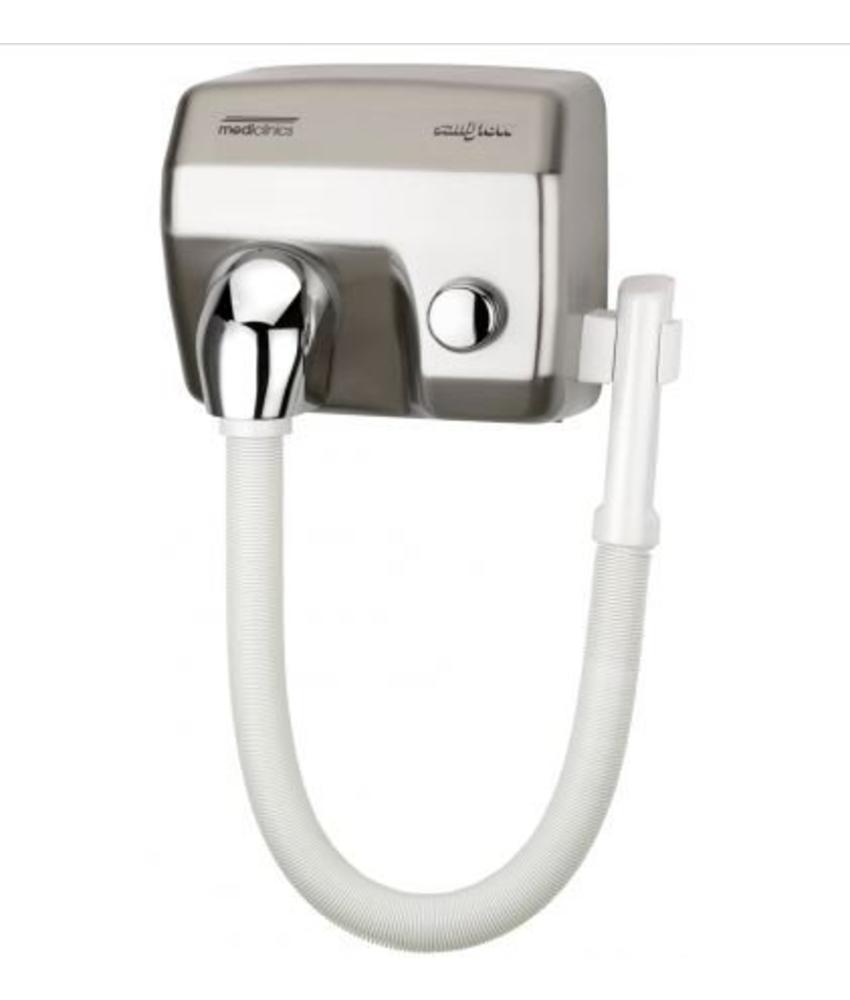 Mediclinics Haardroger drukknop RVS look met slang