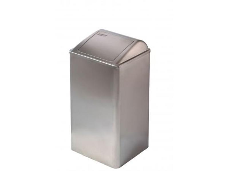 Mediclinics Mediclinics Afvalbak gesloten 65 liter RVS