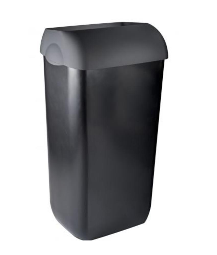 Afvalbak half open 23 liter PlastiQline Exclusive