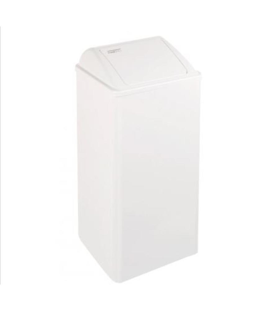 Mediclinics Afvalbak gesloten 80 liter wit