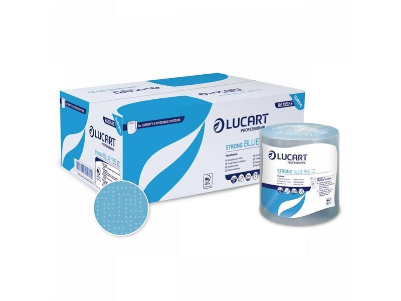Lucart Lucart Strong Handdoekrol Cellulose Blauw 2-laags - 6 rollen