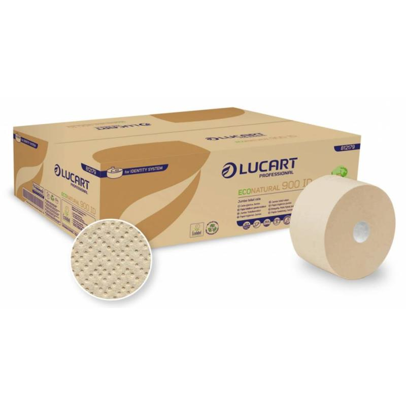 Lucart Jumbo Toiletpapier Eco Natural Recycled 2-laags - 12 rollen