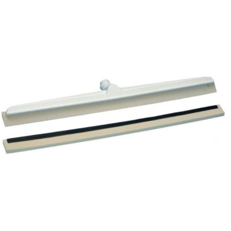 Vloertrekker met flexibele trekker en witte rubbers - 600 mm