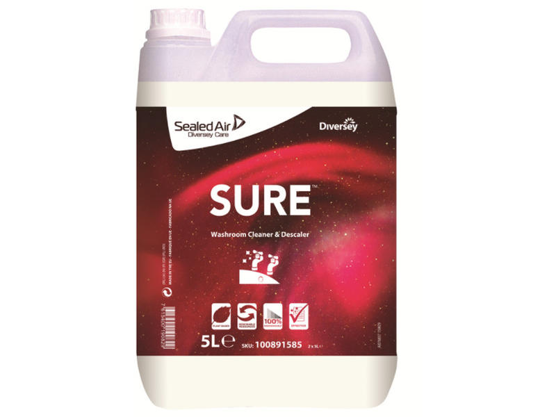 Johnson Diversey SURE Washroom Cleaner & Descaler - sanitairreiniger en ontkalker 5L