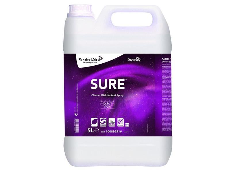 Johnson Diversey SURE Cleaner Disinfectant Spray - gebruiksklare reinigings- en desinfectiespray 5L