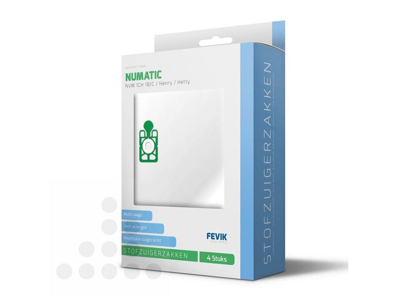 Eigen merk Stofzuigerzakken Numatic 1B/C filterplus - 4 stuks