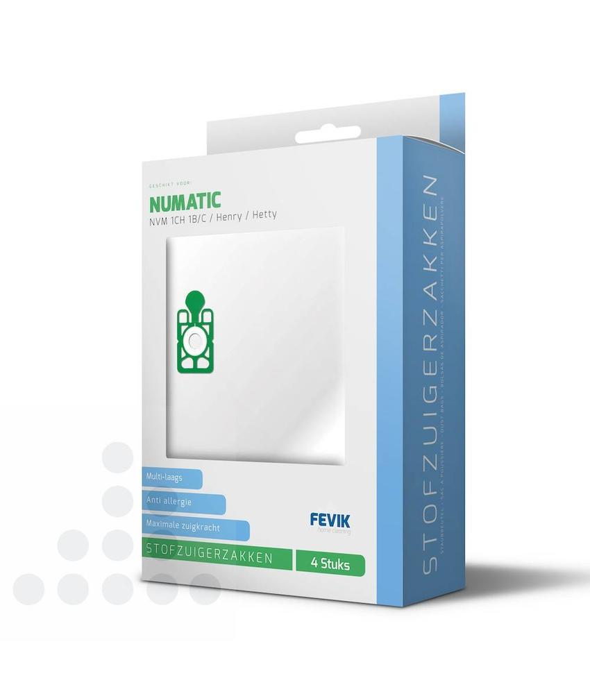 Stofzuigerzakken Numatic 1B/C filterplus - 4 stuks