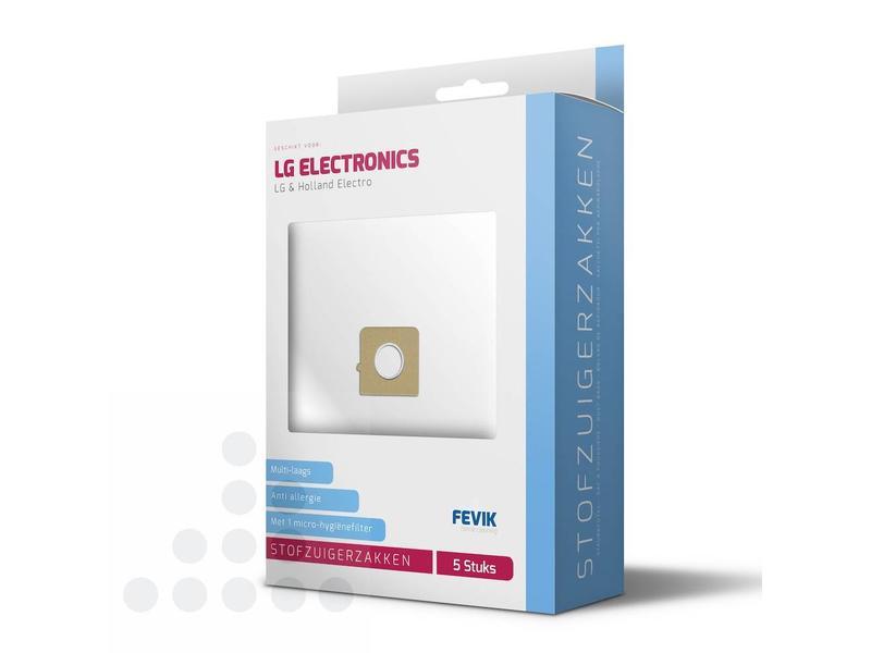Eigen merk Stofzuigerzakken LG filterplus - 5 stuks + filter