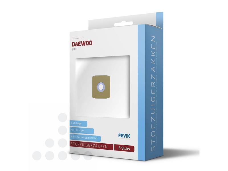 Eigen merk Stofzuigerzakken Daewoo 300 filterplus - 5 stuks + filter
