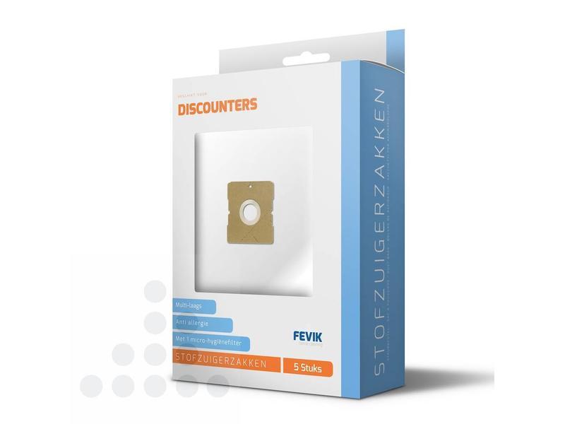 Eigen merk Stofzuigerzakken Discounters filterplus - 5 stuks + filter