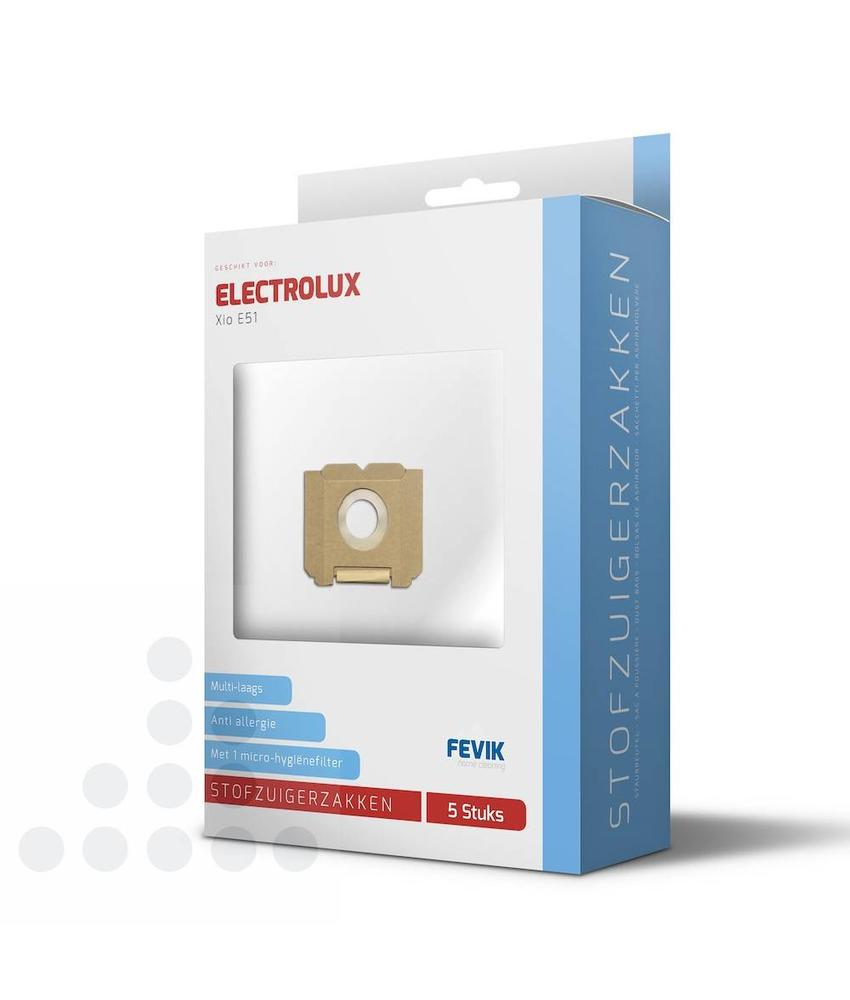 Stofzuigerzakken Electrolux Gr.5 Xio E51 filterplus - 5 stuks + filter