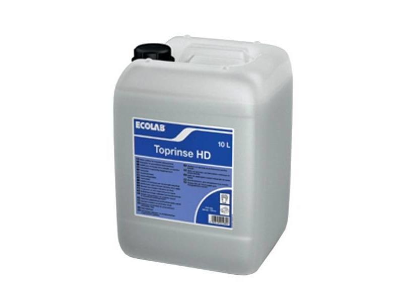 Ecolab Vloeibaar naglansproduct voor hard naspoelwater, voor industriële vaatwasmachines.