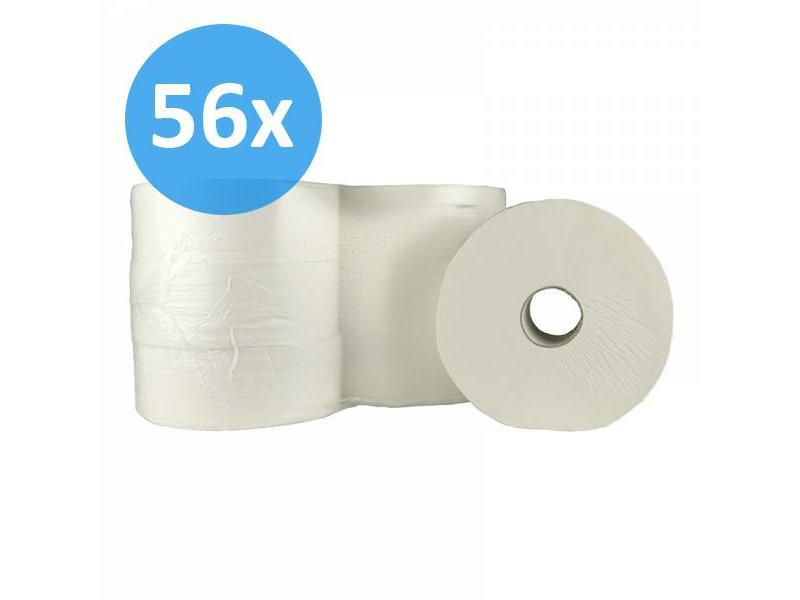 Eigen merk PALLET Toiletpapier Jumbo maxi, 2-laags, cellulose, 6x 380m