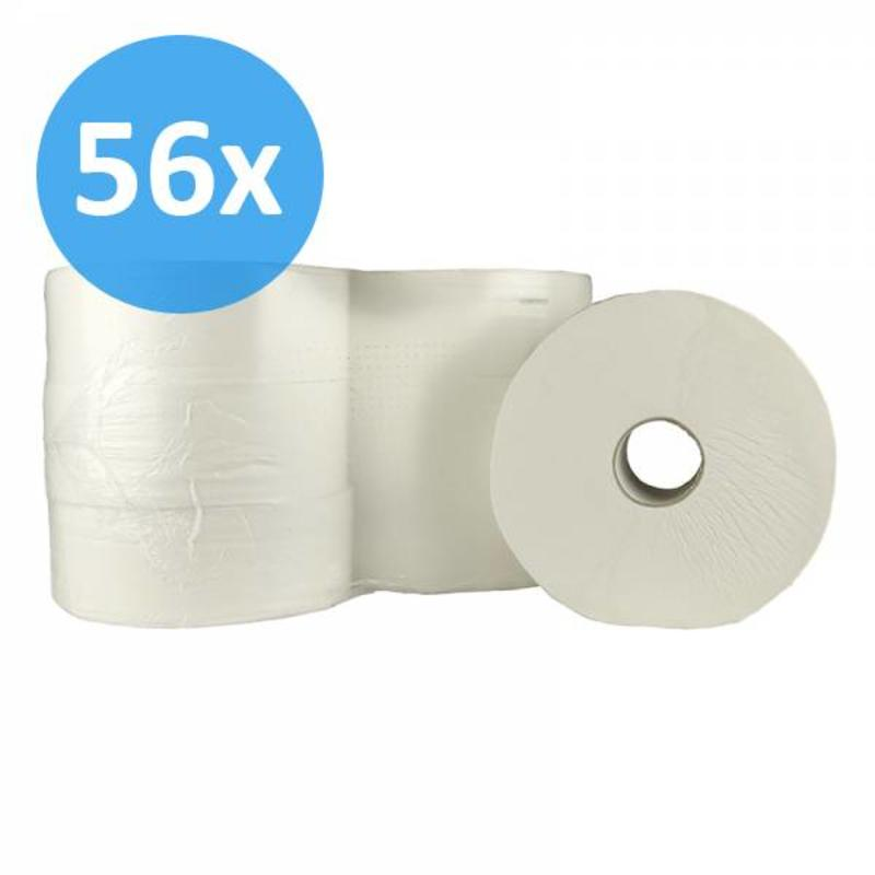 Toiletpapier Jumbo maxi, 2-laags, cellulose