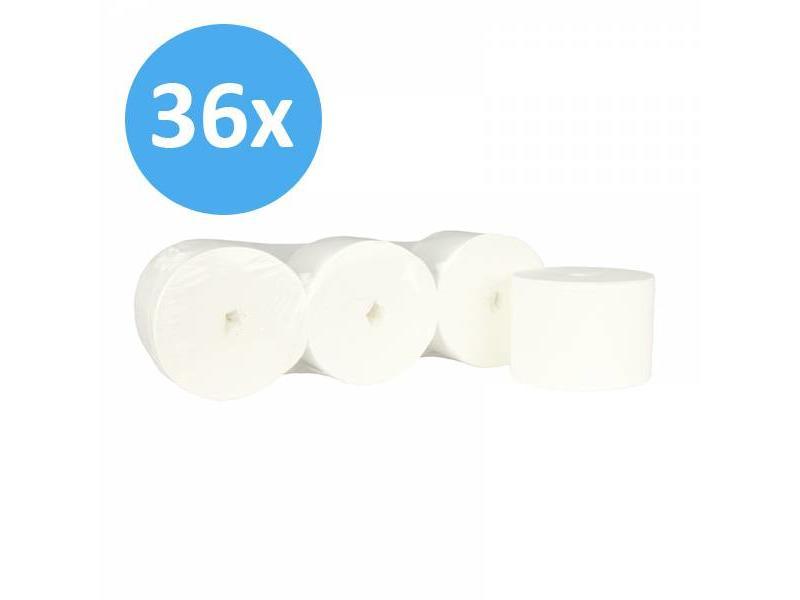 Eigen merk PALLET Toiletpapier Coreless, 2-laags, cellulose wit, 900 vel