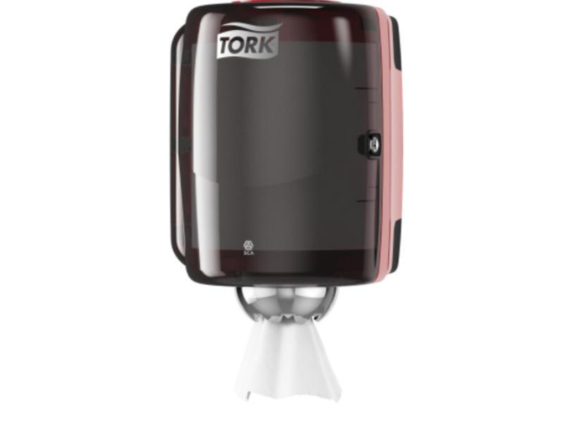 Tork Tork Centerfeed Poetspapier Dispenser Kunststof Zwart/Rood M2