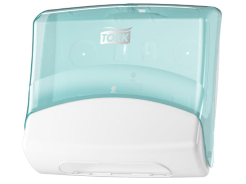 Tork Tork Gevouwen Reinigingsdoek Dispenser Kunststof Wit/Turquoise W4