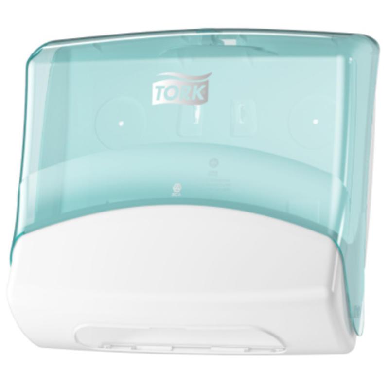 Tork Gevouwen Reinigingsdoek Dispenser Kunststof Wit/Turquoise W4