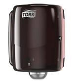 Tork Tork Combi Rol Poetspapier Dispenser Kunststof Zwart/Rood W2
