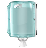 Tork Tork Combi Rol Poetspapier Dispenser Kunststof Wit/Turquoise W2