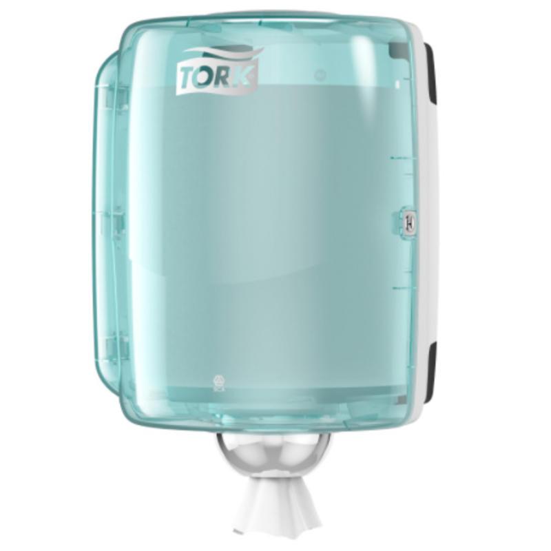 Tork Combi Rol Poetspapier Dispenser Kunststof Wit/Turquoise W2