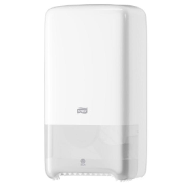 Tork Twin Mid-size Toiletpapier Dispenser Kunststof Wit T6