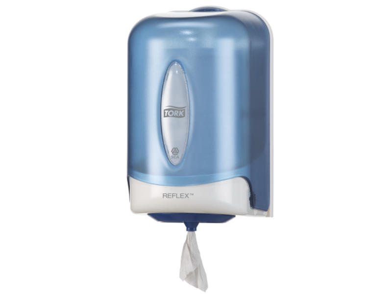 Tork Tork Reflex® Mini Centerfeed Poetspapier Dispenser Kunststof Blauw M3