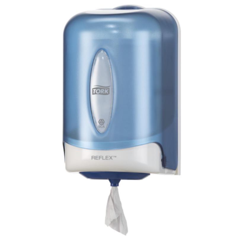 Tork Reflex® Mini Centerfeed Poetspapier Dispenser Kunststof Blauw M3