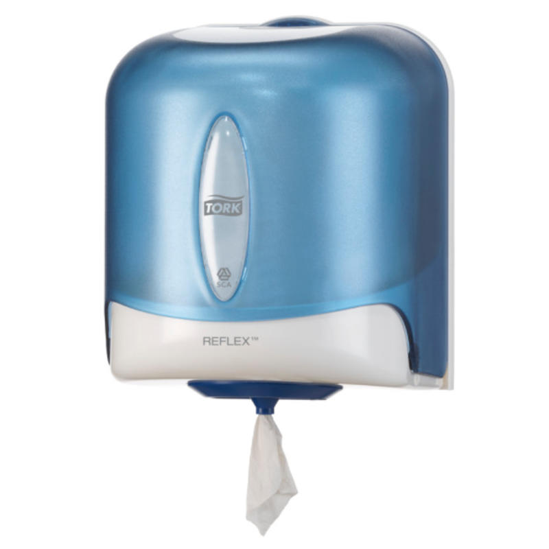 Tork Reflex® Centerfeed Poetspapier Dispenser Kunststof Blauw M4