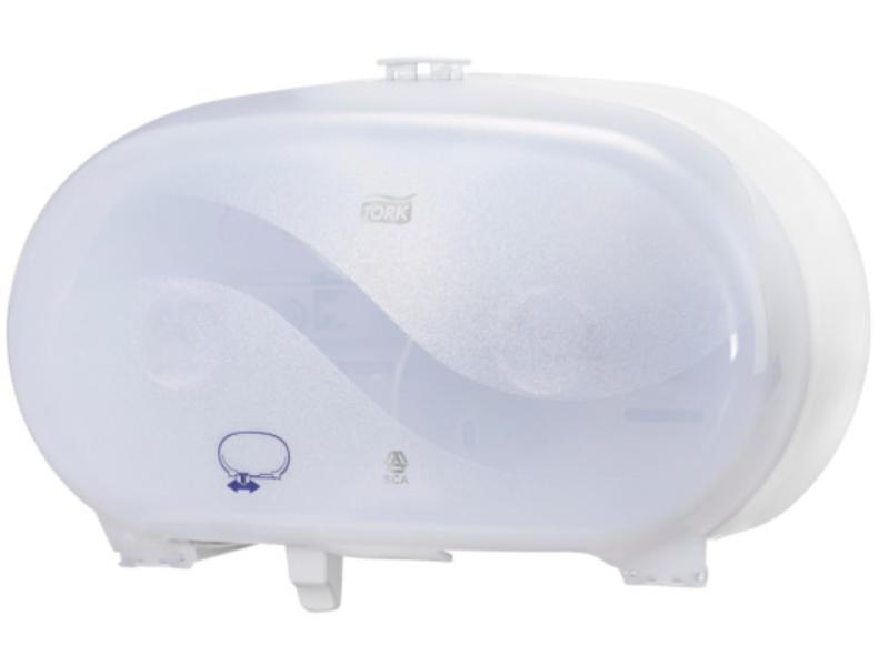 Tork Tork Twin Hulsloos Mid-size Toiletpapier Dispenser Kunststof Wit T7