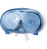Tork Tork Twin Hulsloos Mid-size Toiletpapier Dispenser Kunststof Blauw T7