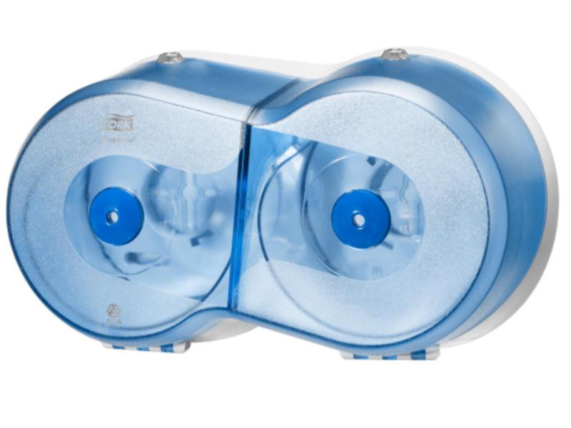 Tork Tork SmartOne® Mini Twin Toiletpapier Dispenser Kunststof Blauw T9