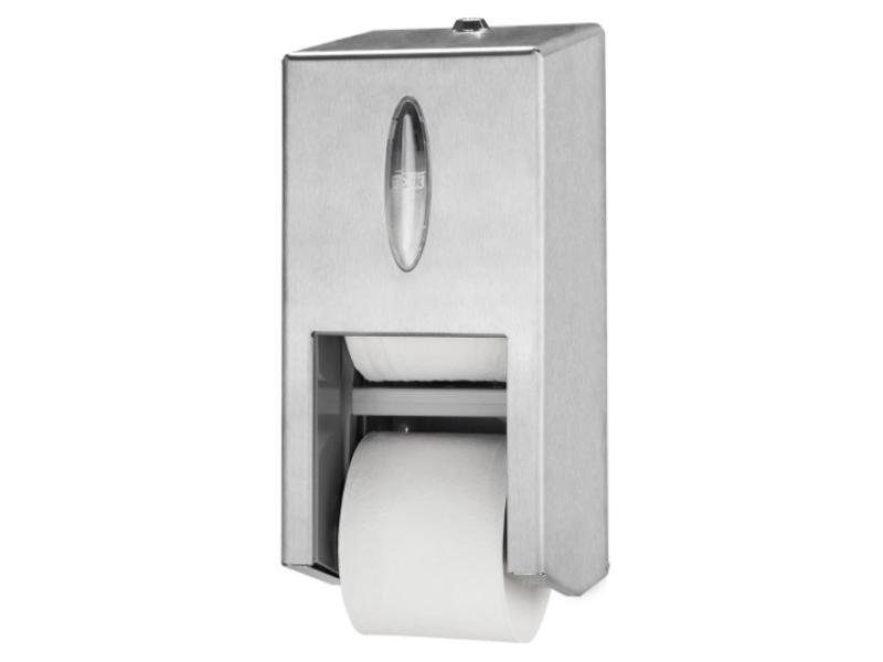 Tork Tork Twin Hulsloos Mid-size Toiletpapier Dispenser RVS T7