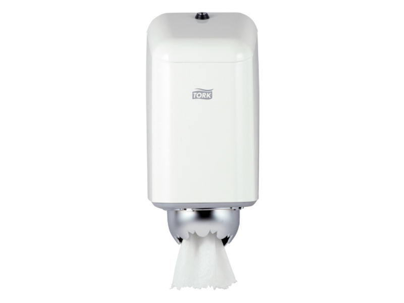 Tork Tork Mini Centerfeed Poetspapier Dispenser Metaal Wit M1