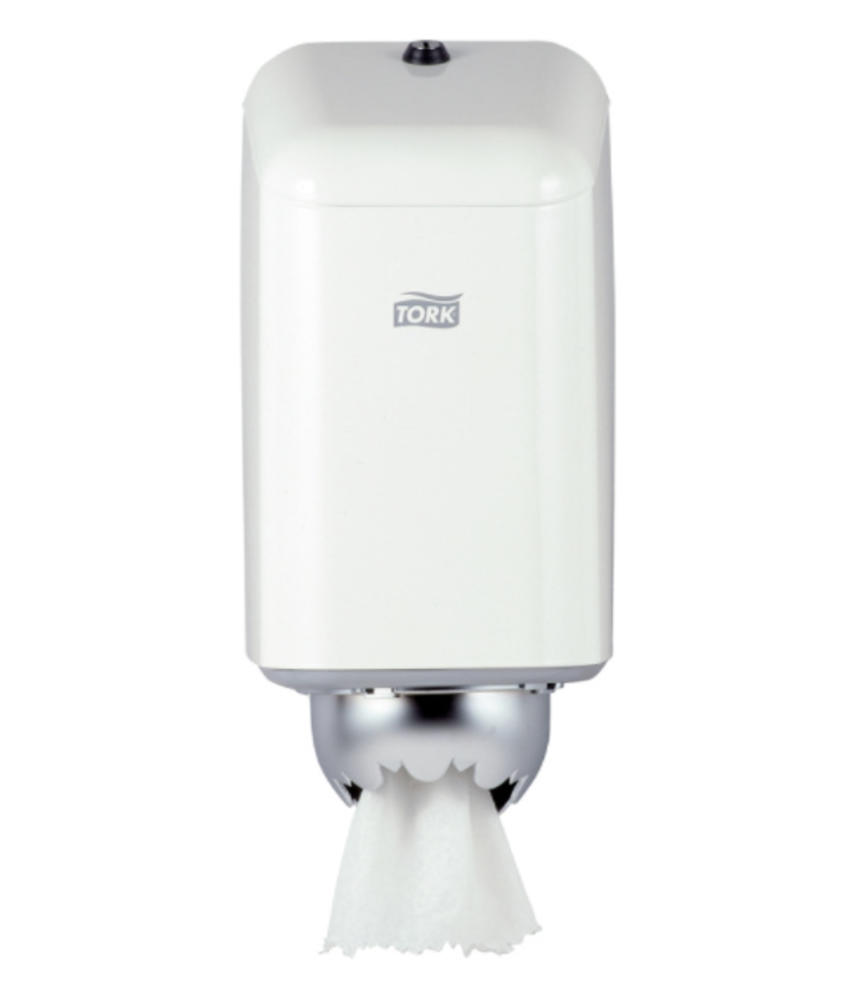 Tork Mini Centerfeed Poetspapier Dispenser Metaal Wit M1