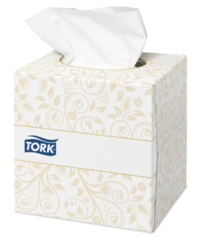 Tork Extra Zachte Facial Tissues 2-laags Wit Kubusdoos Premium