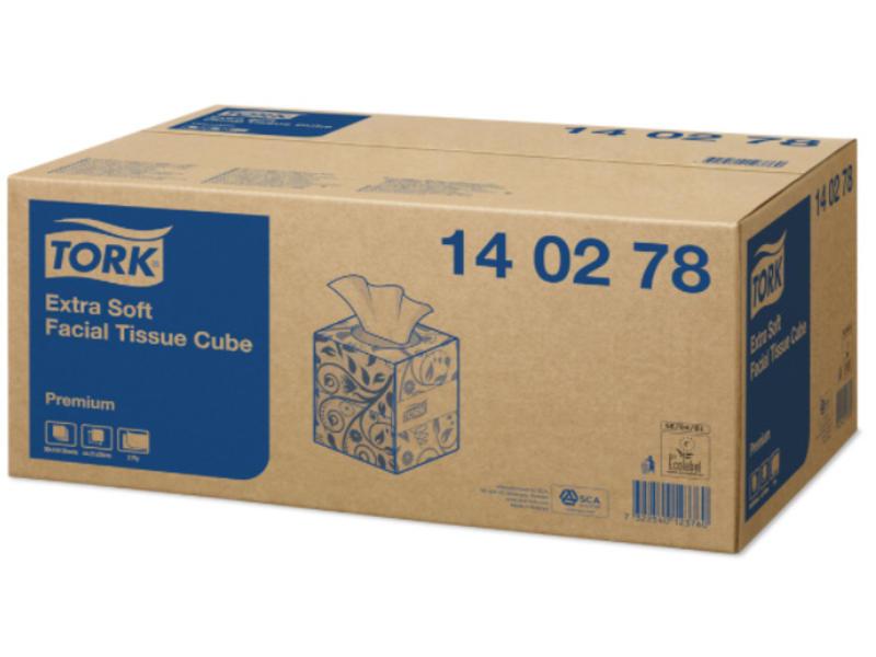 Tork Tork Extra Zachte Facial Tissues 2-laags Wit Kubusdoos Premium
