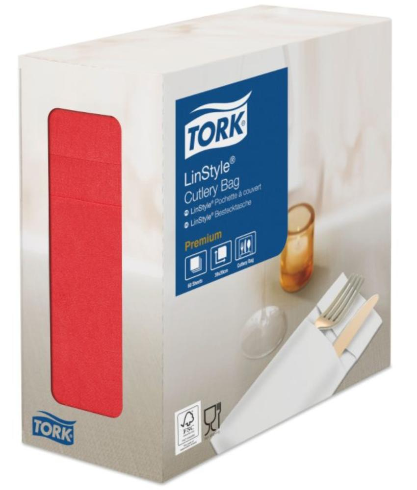 Tork LinStyle® pochette rood 4x60
