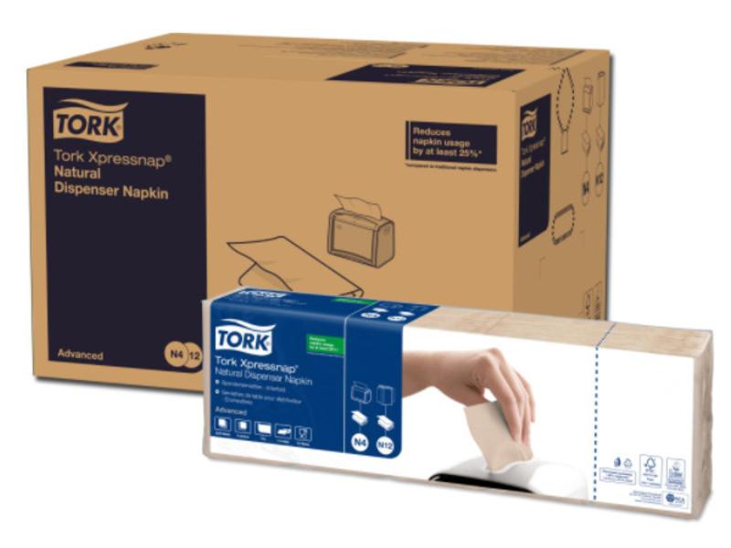 Tork Tork Xpressnap® dispenserservet 21,6x33cm 1-laags 1/4-vouw Natural environmental print