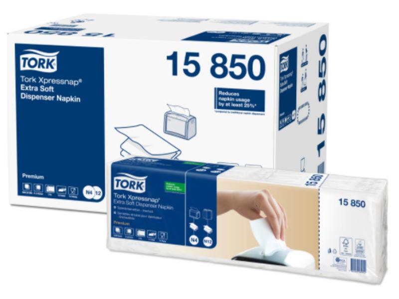 Tork Tork Xpressnap® dispenserservet 21,6x16,5cm 2-laags 1/2-vouw wit 5x200x8