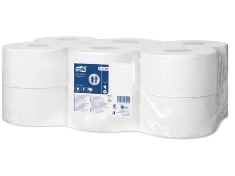 Tork Tork Mini Jumbo Toiletpapier 1-laags Wit T2 Advanced