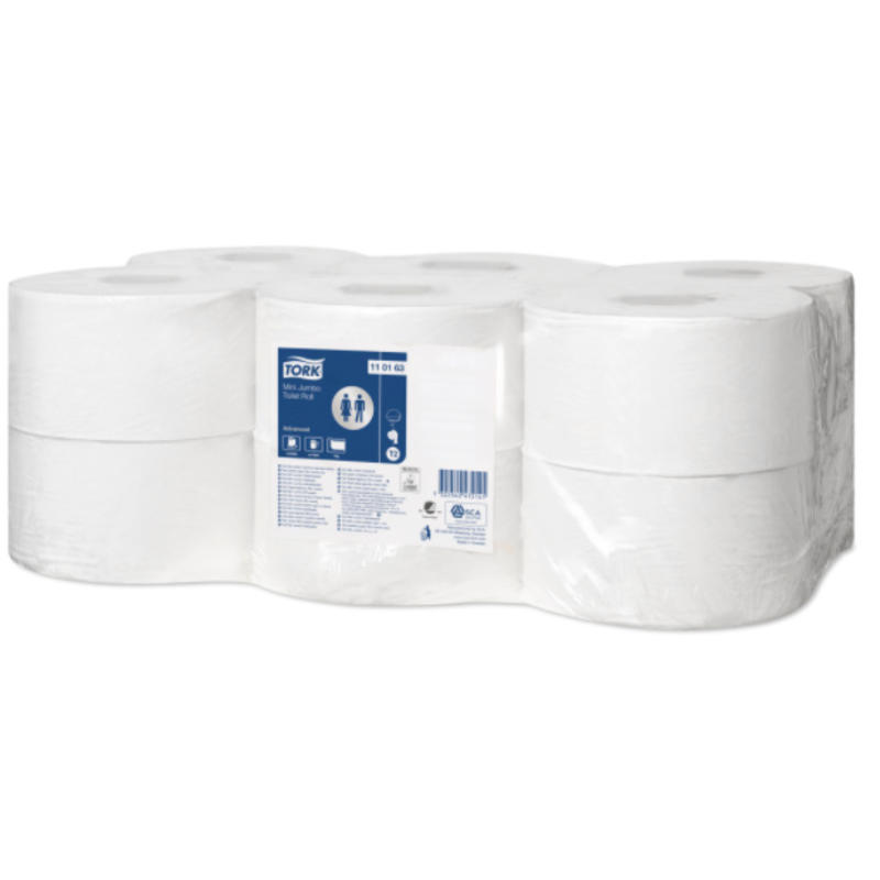 Tork Mini Jumbo Toiletpapier 1-laags Wit T2 Advanced