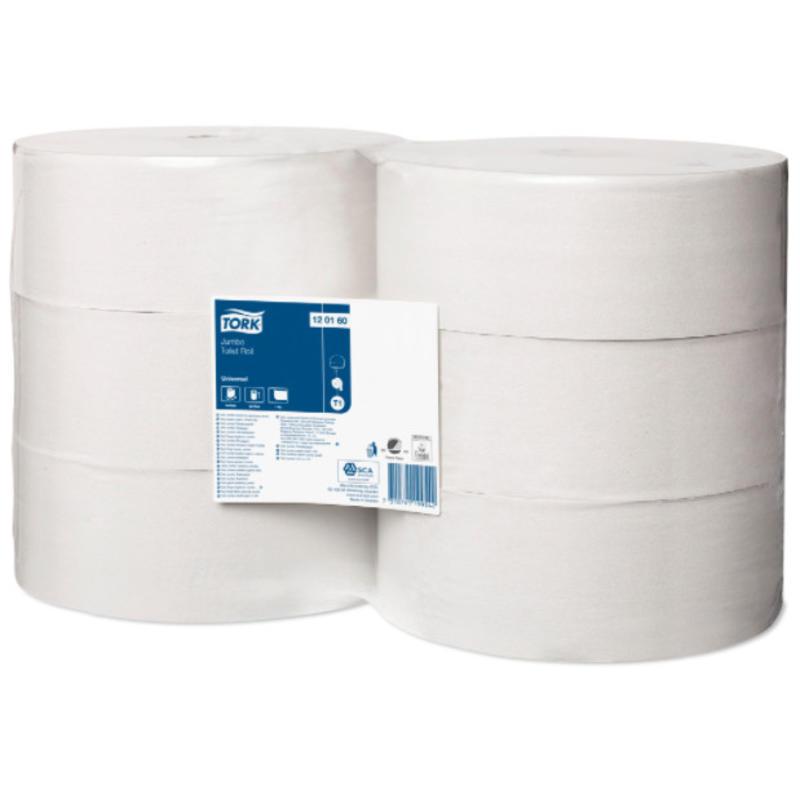 Tork Jumbo Toiletpapier 1-laags Wit T1 Universal