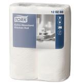 Tork Tork Extra Absorberende Keukenrol 2-laags Wit