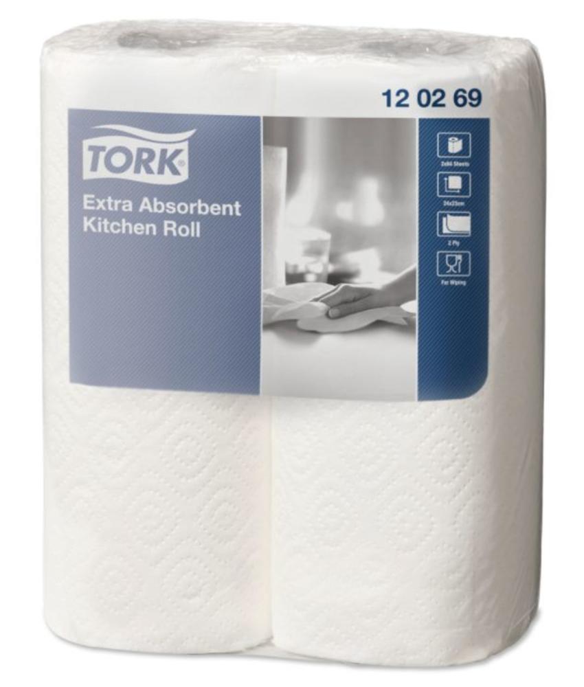 Tork Extra Absorberende Keukenrol 2-laags Wit