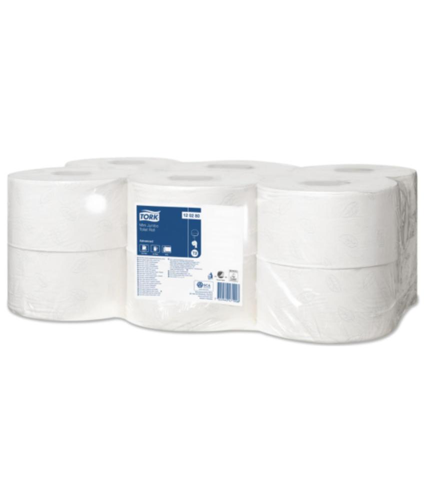 Tork Mini Jumbo Toiletpapier 2-laags Wit T2 Advanced